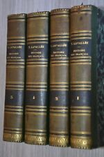 Histoire des Français T. LAVALLÉE 4 Vol. ed.Charpentier 1858 / A4