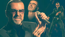 GEORGE MICHEAL MONTAGE  FINE ART CANVAS A1 ICONIC RETRO 20X30 WALL NEW POP WHAM