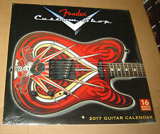 FENDER GUITAR CUSTOM SHOP 2017 CALENDAR NEW SEALED STRATOCASTER TELECASTER 12""