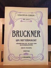 Bruckner Um Mitternacht choeur d'hommes solo alto piano partition Universal