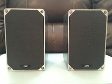 Vtg RARE Metal JVC S-M3 Bookshelf 50W Hifi Stereo Speakers Made in Japan