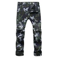 Men Warm Hiking Pants Outdoor Waterproof Combat Sports Fleece Ski Trousers