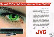 Publicité Advertising 1986 (2 pages) TV Hi-fi magnetoscope JVC