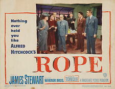 Rope 11 X 14 Lobby Card LC James Stewart Alfred Hitchcock Farley Granger