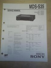 Sony Service Manual~MDS-S35 MiniDisc Deck~Original~Repair