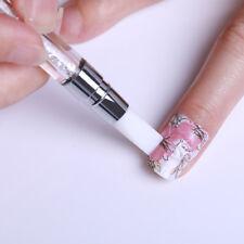 Double Head Quartz Nail Art Cuticle Remover Pen Silicon Press Sticker Stick Tool