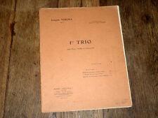 1er trio pour piano violon et violoncelle Op.35 Joaquin Turina 1926