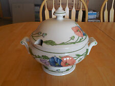 Villeroy and Boch Germany AMAPOLA Soup Tureen with Lid 2 pcs 8 in Blue Orange