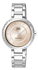 Q&Q by Citizen F531J205Y Superior Crystal Silver Tone Women's  Watch ~GREAT GIFT
