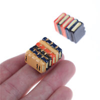 1 Set of 2 books Dollhouse Miniature DIY Model for Kids Gift Acessories Sh