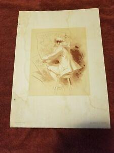 """RARE Original Lithograph """"Les Maitre de L'Affiches"""" Series. Artist Jules Cheret"""