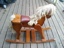 ROCKING HORSE WOODEN AMISH HEAVY DUTY HAND MADE VINTAGE