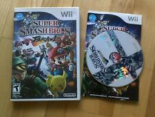 Super Smash Bros Brawl Wii Mario + Pikachu + Sonic **NTSC USA **please read