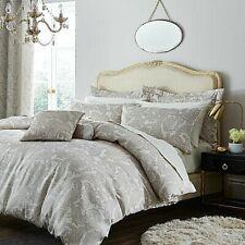 Double Catherine Lansfield Opulent Jacquard Gold Duvet Quilt Cover Bedding Set