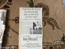 k2-2  ephemera 1966 advert stanley matthews bio strath health food margate