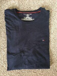 Tommy Hilfiger Navy Mens Casual Tee Shirt (XL)