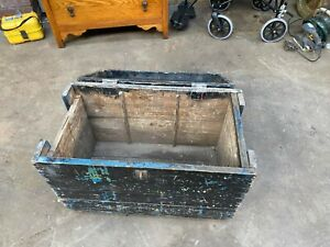 Vintage Pine Wooden Storage Trunk Pine Box Pine Tool Box WEST YORKSHIRE £50