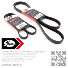 GATES MICRO-V DRIVE & A/C BELTS V8 LS2 6.0L MOTOR [HOLDEN VE COMMODORE/UTE/SS]