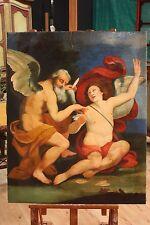 DIPINTO OLIO SU TELA SCENA ANGELI ITALIA RIPRODUZIONE MODERNA (H 100 cm) PARINO