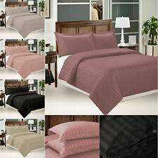 Plain Duvet Cover With Pillow Case Cover Bedding Set Single Double All Size