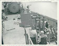 1938 Scientists Examine Mirror Under Testing Machine Original News Service Photo