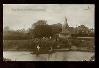 Sussex BURY Church Ferry used 1922 RP PPC ladies crossing