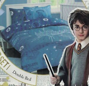 HARRY POTTER HOGWARTS SCHOOL OF WITCHCRAFT AND WIZARDRY QUILT COVER SET DOUBLE