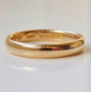 Fine Vintage 22ct Gold Wedding Band Ring c1928; UK Ring Size: 'O 1/2'