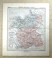 1882 Antik Map Of West Preußen Polen Preußische Reich Deutsche 19th Century Alt