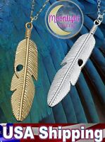 New Feather Tassels Indian Metal Silver and Gold Pendant Necklace