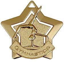 60mm Gold Mini Star Gymnastics Medal with Ribbon (AM719G) gw