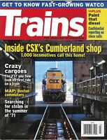Trains Magazine CSX Cumberland Shop Crazy Cargoes Boston Commuters Map Watco