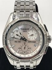 Tissot Woman's Diamond Chronograph Lady Watch T22.1.486.21 MOP Dial With Date