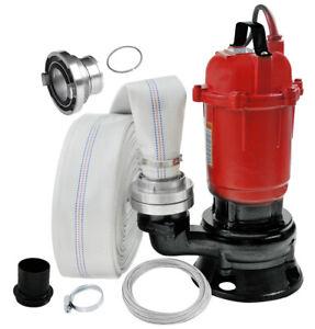 Schmutzwasserpumpe 550 Watt Tauchpumpe mit 30m Schlauch Wasserpumpe 0,55 kW