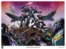 TRANSFORMERS MACHINE WARS TERMINATION 2013 LITHOGRAPH; Botcon art poster .