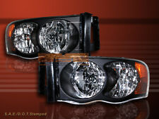2002-2005 Dodge Ram 1500 / 2003-2005 2500/3500 Headlights Black