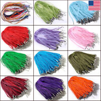 100/80Pc Mixed Color Lobster Clasp Leather Cord Necklace Bracelet Chain Rope Lot