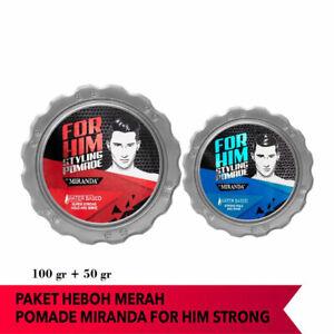 [MIRANDA] Set Water Based Hair Pomade for Men Super Strong 100g + Strong 50g