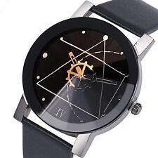 Fashion Women Stainless Steel Date Quartz Dial Sport Leather Analog Wrist Watch