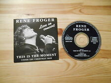 CD Schlager Rene Froger - This Is The Moment (2 Song) DINO MUSIC