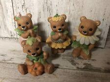 New ListingHomco Home Interiors Set Of 4 Teddy Bear Figurines