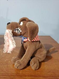 TOY: MEANIE BEANIE BABY: INFAMOUS: BUDDY THE DOG w/ML underwear-no cardboard tag