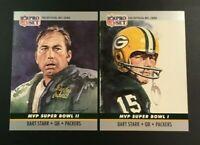 1990 Pro Set #1 #2 BART STARR Lot 2 MVP SUPER BOWL Green Bay Packers $$ HOT $$