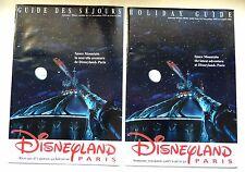 RARE GUIDE DES SEJOURS  DISNEYLAND 1995 / SPACE MOUNTAIN / FRANCAIS ET ANGLAIS