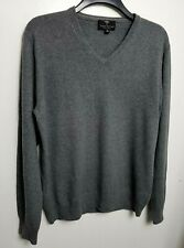 FYNCH HATTON 100% PURE CASHMERE MENS JUMPER SWEATER M GREY
