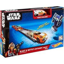 Hot Wheels Star Wars Lightsabre Car Launcher Race Track Play-set (Assorted)