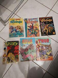 Lot comics strange spidey thor hulk