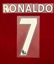 2013-17 EPL Premier League MANCHESTER UNITED #7 RONALDO HOME NAME SET