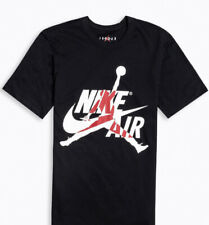 Nike Men's Air Jordan Classics T-Shirt Black/White/Gym Red BV5905-010 Size M