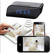 HD sans fil WiFi Spy caméra cachée IR DV Cam Motion Sécurité Alarme Horloge caméra